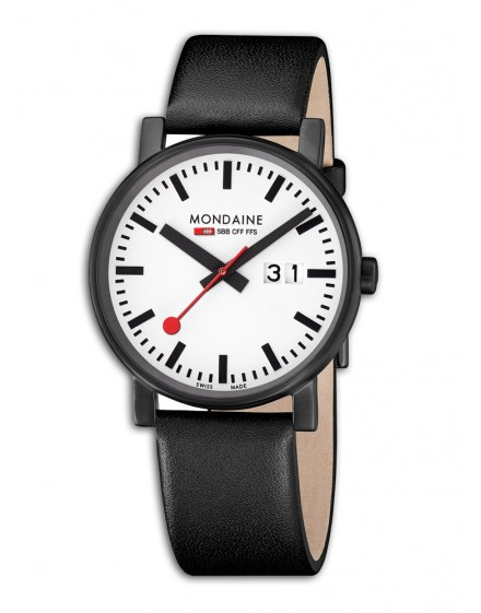 Reloj Mondaine SBB Evo Big 40 Black&White A627.30303.61SBM