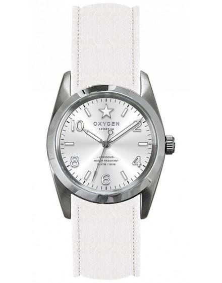 Reloj Oxygen Sport 34 Paris Piel EX-S-PAR-34-CL-WH
