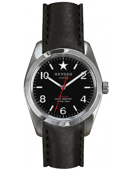 Reloj Oxygen Sport 38 Washington Piel EX-S-WAS-38-CL-BL