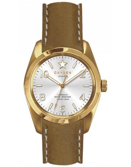 Reloj Oxygen Sport 38 Nugget Piel EX-S-NUG-38-CL-LB