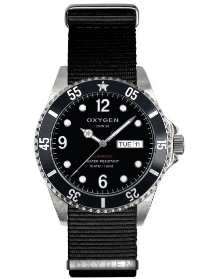 Reloj Oxygen Diver 36 Moby Dick Textil EX-D-MOB-36-NN-BL