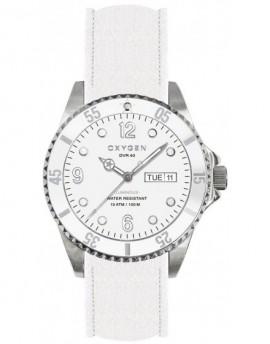 Reloj Oxygen Diver 36 White Bear Piel EX-D-WHI-36-CL-WH