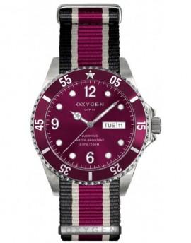 Reloj Oxygen Diver 36 Grape Textil EX-D-GRA-36-NN-BLIVPL