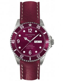 Reloj Oxygen Diver 36 Grape Piel EX-D-GRA-36-CL-PL