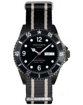 Reloj Oxygen Diver 36 Moby Dick Black Textil EX-D-MBB-36-NN-BLIVBL