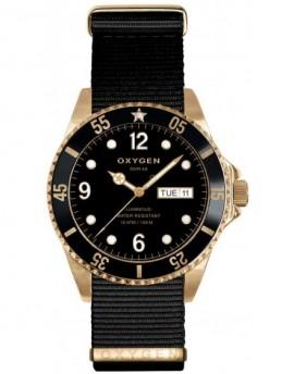Reloj Oxygen Diver 36 Gold Mine Textil EX-D-MIN-36-NN-BL