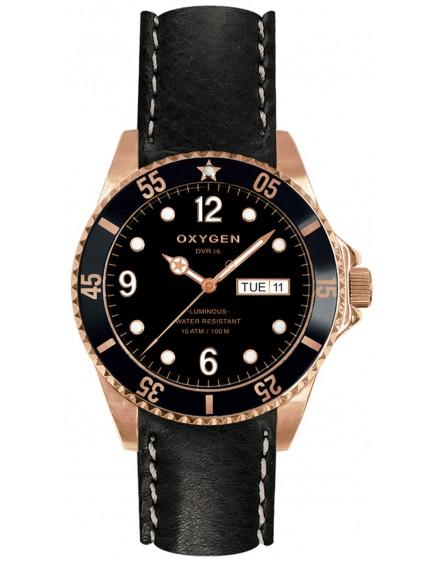 Reloj Oxygen Diver 36 Gold Mine Piel EX-D-MIN-36-CL-BL