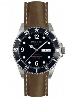 Reloj Oxygen Diver 40 Moby Dick Piel EX-D-MOB-40-CL-DB