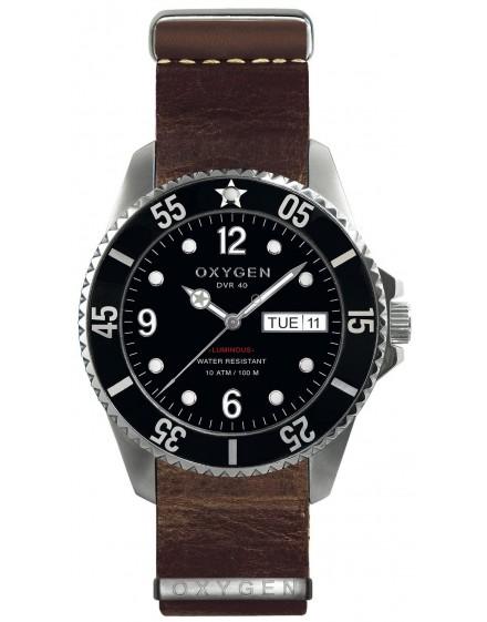 Reloj Oxygen Diver 40 Moby Dick Piel EX-D-MOB-40-NL-DB