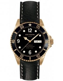 Reloj Oxygen Diver 40 Gold Mine Piel EX-D-MIN-40-CL-BL