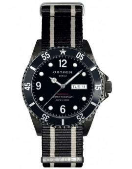 Reloj Oxygen Diver 40 Moby Dick Black Textil EX-D-MBB-40-NN-BLIVBL