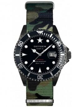 Reloj Oxygen Diver 40 Moby Dick Black Textil EX-D-MBB-40-NN-AR