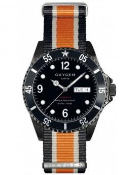 Reloj Oxygen Diver 40 Moby Dick Black Textil EX-D-MBB-40-NN-BLIVOR