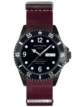 Reloj Oxygen Diver 40 Moby Dick Black Piel EX-D-MBB-40-NL-PL