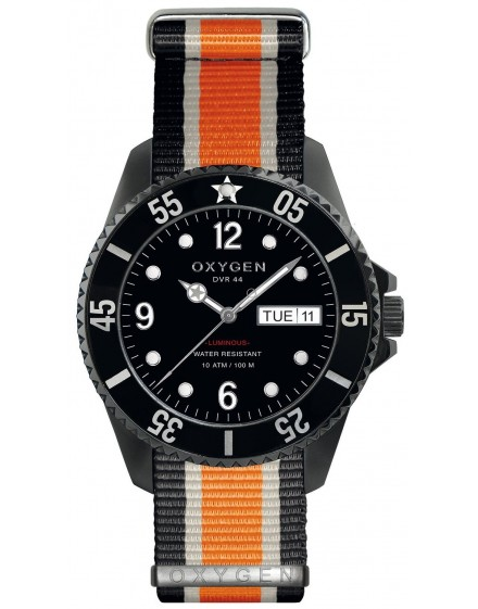 Reloj Oxygen Diver 44 Moby Dick Black Textil EX-D-MBB-44-NN-BLIVOR
