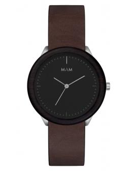 Reloj de madera MAM Originals STAINLESS Dark Ebony Graphite