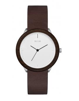 Reloj de madera MAM Originals STAINLESS Light Teak Cooper