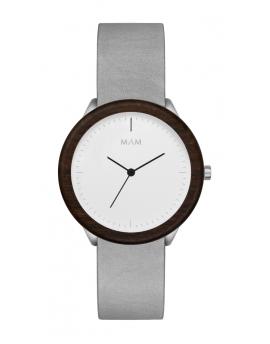 Reloj de madera MAM Originals STAINLESS Light Teak Graphite