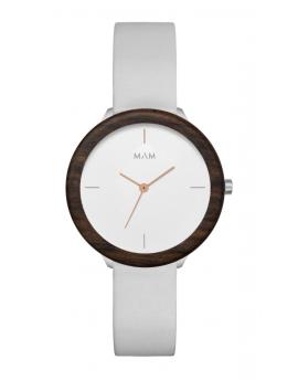 Reloj de madera MAM Originals Light Teak Grey