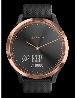 Garmin Vivomove HR Sport Oro Rosa con correa de silicona negra