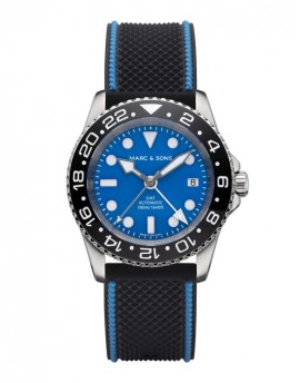 MARC & SONS Diver Watch Automatic GMT ETA 2893-2 MSG-007--4-LS-K6