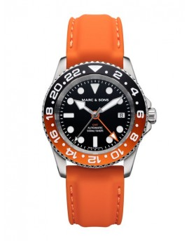 MARC & SONS Diver Watch Automatic GMT ETA 2893-2 MSG-007-6-K2