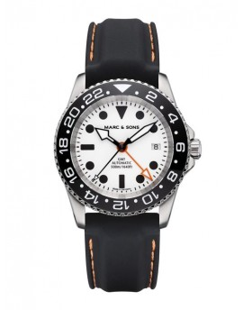 MARC & SONS Diver Watch Automatic GMT ETA 2893-2 MSG-007-8-LS-K7