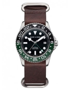 MARC & SONS Diver Watch Automatic GMT ETA 2893-2 MSG-007-2-L12