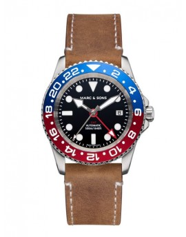 MARC & SONS Diver Watch Automatic GMT ETA 2893-2 MSG-007-7-L8