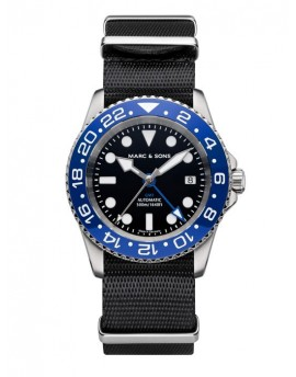 MARC & SONS Diver Watch Automatic GMT ETA 2893-2 MSG-007-1-LB-T5