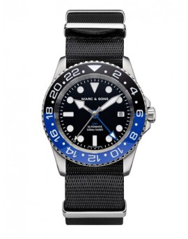 MARC & SONS Diver Watch Automatic GMT ETA 2893-2 MSG-007-1-T5
