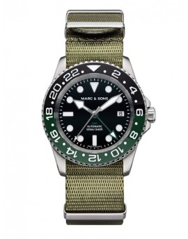 MARC & SONS Diver Watch Automatic GMT ETA 2893-2 MSG-007-2-T1