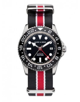 MARC & SONS Diver Watch Automatic GMT ETA 2893-2 MSG-007-3-T17