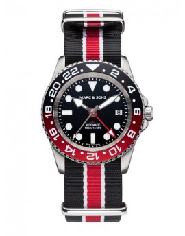 MARC & SONS Diver Watch Automatic GMT ETA 2893-2 MSG-007-5-T17