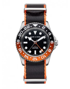 MARC & SONS Diver Watch Automatic GMT ETA 2893-2 MSG-007-6-T2