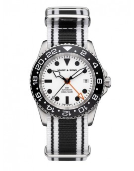 MARC & SONS Diver Watch Automatic GMT ETA 2893-2 MSG-007-8-LS-T12