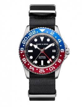 MARC & SONS Diver Watch Automatic GMT ETA 2893-2 MSG-007-7-T5