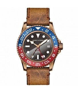 MARC & SONS Mens Watch Automatic GMT Bronze MSG-007B-7