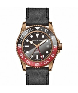 MARC & SONS Mens Watch Automatic GMT Bronze MSG-007B-5