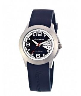 Wally 3 Needles Neckmarine Women Rubber Bracelet Watch NKM875905