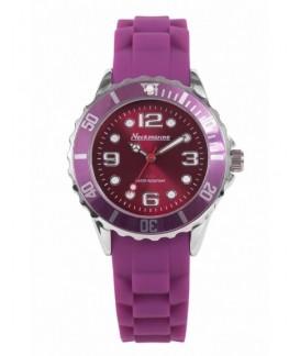 Metal Flash Neckmarine Women Silicone Bracelet Watch NKM41002