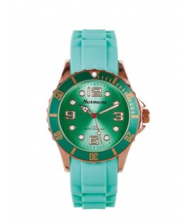Metal Flash Cadet Neckmarine Women Silicone Bracelet Watch NKM31014
