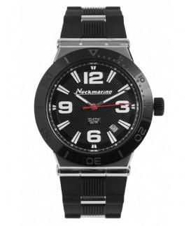 Sport Neckmarine Women Rubber Bracelet Watch NKM435L06