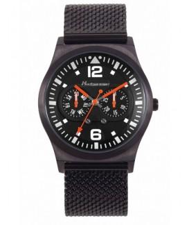 Slim Sport Neckmarine Men Leather Bracelet Watch NKM217M06M