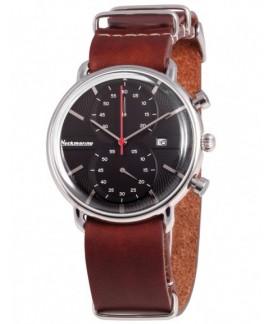 Vintage Crono Neckmarine Men Leather  Bracelet Watch NKM935J06
