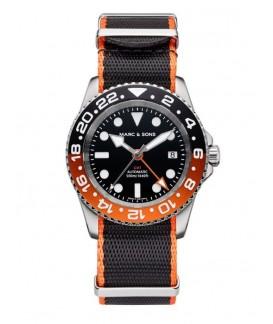 MARC & SONS Diver Watch Automatic GMT ETA 2893-2 MSG-007-6-T2