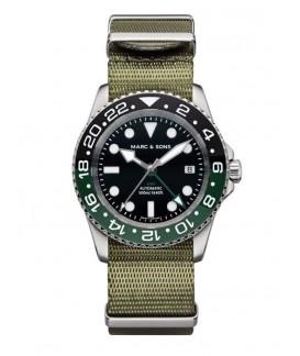 MARC & SONS Diver Watch Automatic GMT ETA 2893-2 MSG-007-2-T1