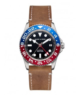 MARC & SONS Diver Watch Automatic GMT ETA 2893-2 MSG-007-7-L8