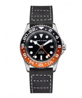 MARC & SONS GMT Series Watch Automatic GMT ETA 2893-2 MSG-007-6-L3