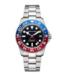 MARC & SONS GMT Series Watch Automatic GMT ETA 2893-2 MSG-007-7SJ
